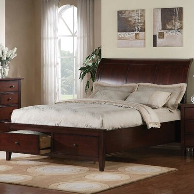 Winners Only, Inc. Vintage Storage Sleigh Bed - Finish: Cherry, Size: Queen at Sears.com