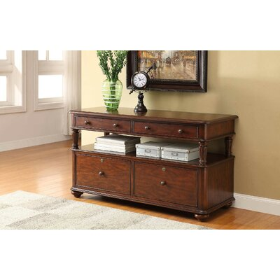 Otwell 54 TV Stand Color: Cherry