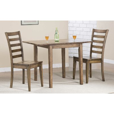 Rutledge Leg Dining Table with Drop Leaves Finish: Rustic Brown