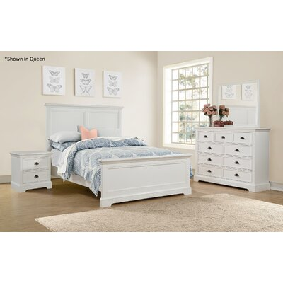 Ardie Wood Panel Bed Size: King, Finish: White