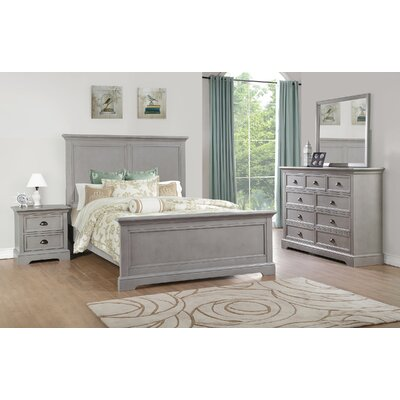 Ardie Wood Panel Bed Finish: Gray, Size: Queen