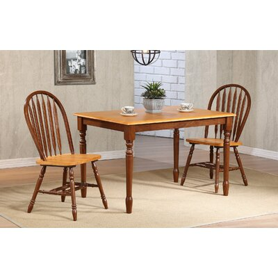 Clyde Leg Dining Table Finish: Fruitwood