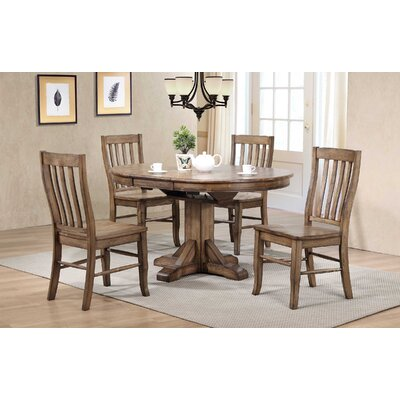 Rutledge Pedestal Dining Table with Butterfly Leaf Finish: Rustic Brown