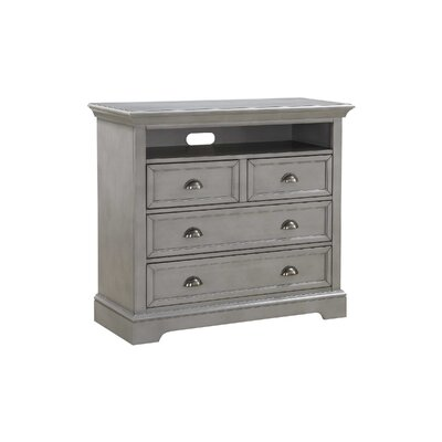 Ardie 4 Drawer TV Chest Color: Gray