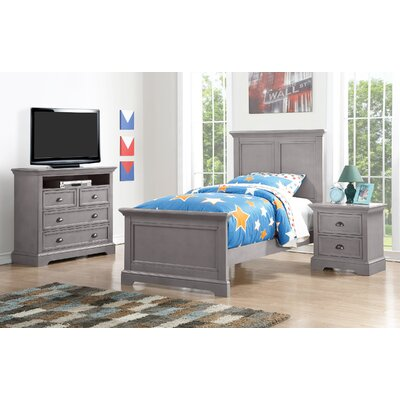 Ardie Wood Panel Bed Size: Twin, Finish: Gray