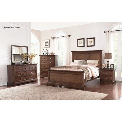 Ardie Panel Bed Size: King