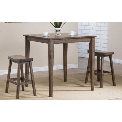Rutledge Square Tall Dining Table Finish: Rustic Brown