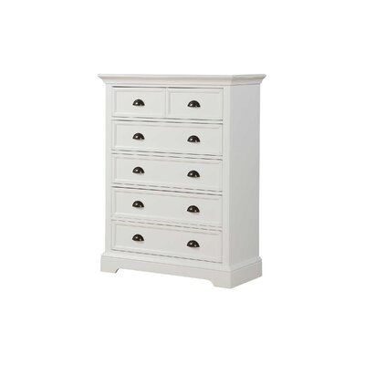 Ardie 6 Drawer Chest Color: White