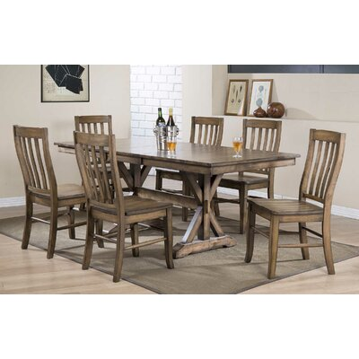 Rutledge Dining Table with Butterfly Leaf Finish: Rustic Brown