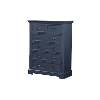 Ardie 6 Drawer Chest Color: Gray