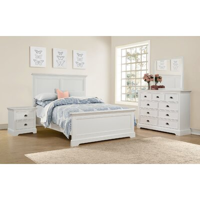 Ardie Wood Panel Bed Size: Queen, Finish: White