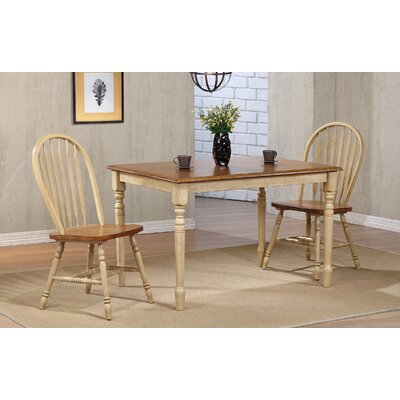 Clyde Leg Dining Table Finish: Almond/Wheat