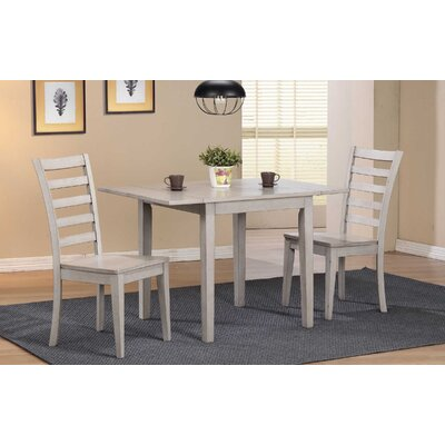 Rutledge Leg Dining Table with Drop Leaves Finish: Gray