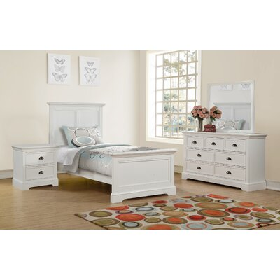 Ardie Wood Panel Bed Size: Twin, Finish: White