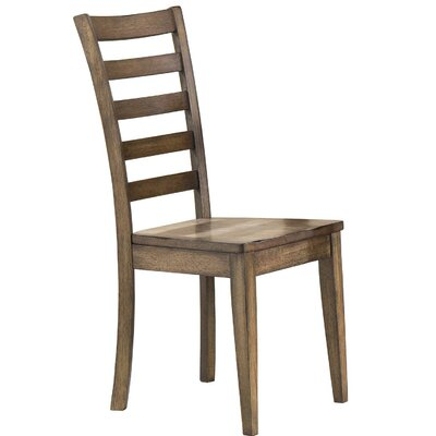 Rutledge Ladderback Solid Wood Dining Chair (Set of 2) Color: Rustic Brown