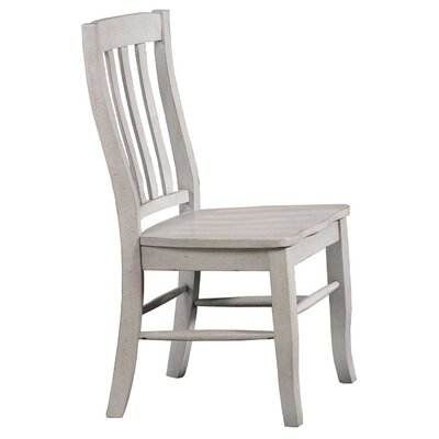 Rutledge Rake Back Solid Wood Dining Chair (Set of 2) Color: Gray