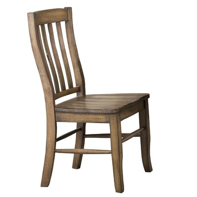 Rutledge Rake Back Solid Wood Dining Chair (Set of 2) Color: Rustic Brown