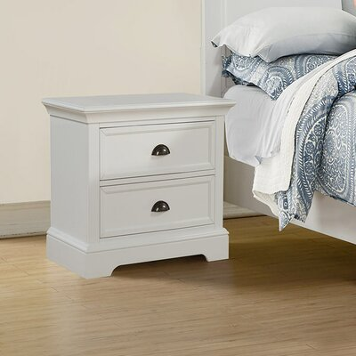 Ardie 2 Drawer Nightstand Color: White