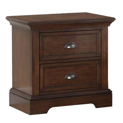 Ardie 2 Drawer Wood Nightstand