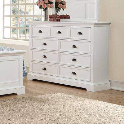Ardie 7 Drawer Youth Dresser Color: White