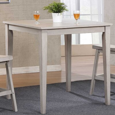 Rutledge Square Tall Dining Table Finish: Gray