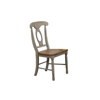 Claysburg Corell Park Solid Wood Dining Chair (Set of 2) Color: Gray