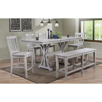 Clennell Dining Table Color: Gray