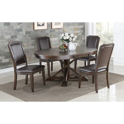 Suzana Pedestal Leaf Dining Table