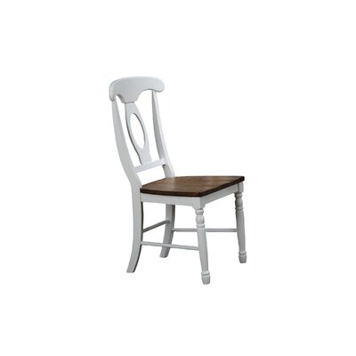 Claysburg Corell Park Solid Wood Dining Chair (Set of 2) Color: White