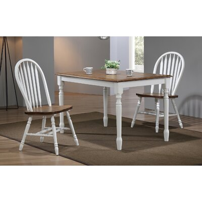 Sima Leg Dining Table Color: White