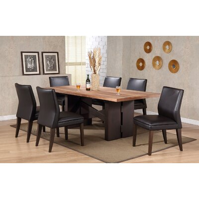Shanita Trestle Leaf Dining Table