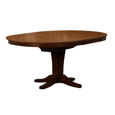 Zacarias Pedestal Butterfly Leaf Dining Table