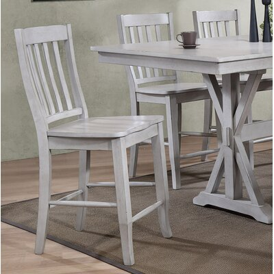 Clennell 24 Bar Stool (Set of 2) Color: Gray