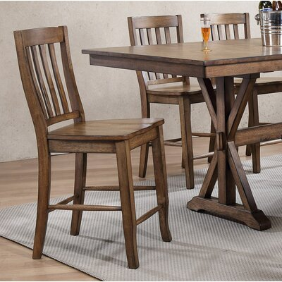Clennell 24 Bar Stool (Set of 2) Color: Rustic Brown