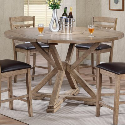 Clifford Drop Leaf Lazy Susan Dining Table