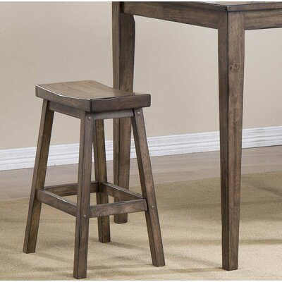 Rutledge Saddle 24 Barstool (Set of 2) Finish: Rustic Brown