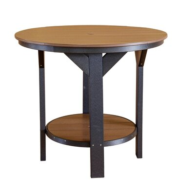 Heritage Bar Table Finish: Weathered Wood/Black