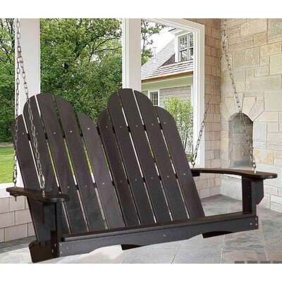 Classic Adirondack Porch Swing Finish: Turf Green