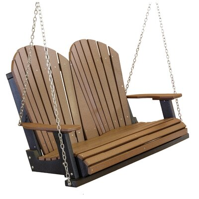 Little Cottage Company Porch Swing - Color: Red/Black