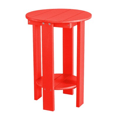 Heritage Balcony Table Finish: Red/Black