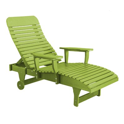Heritage Chaise Lounge Color: Lime Green