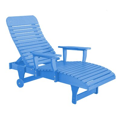 Heritage Chaise Lounge Color: Blue