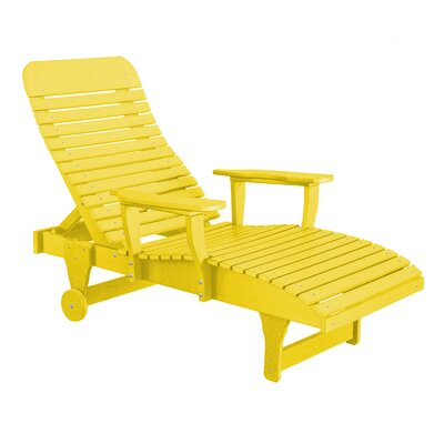 Heritage Chaise Lounge Color: Lemon Yellow