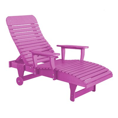 Heritage Chaise Lounge Color: Purple