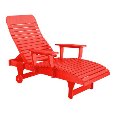 Heritage Chaise Lounge Color: Red/Black