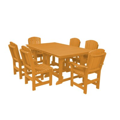 Heritage 7 Piece Dining Set Finish: Orange