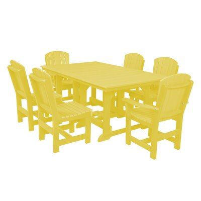 Heritage 7 Piece Dining Set Finish: Lemon Yellow