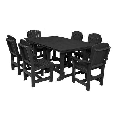 Heritage 7 Piece Dining Set Finish: Black