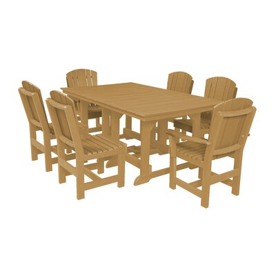 Heritage 7 Piece Dining Set Finish: Cedar
