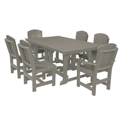 Heritage 7 Piece Dining Set Finish: Light Gray